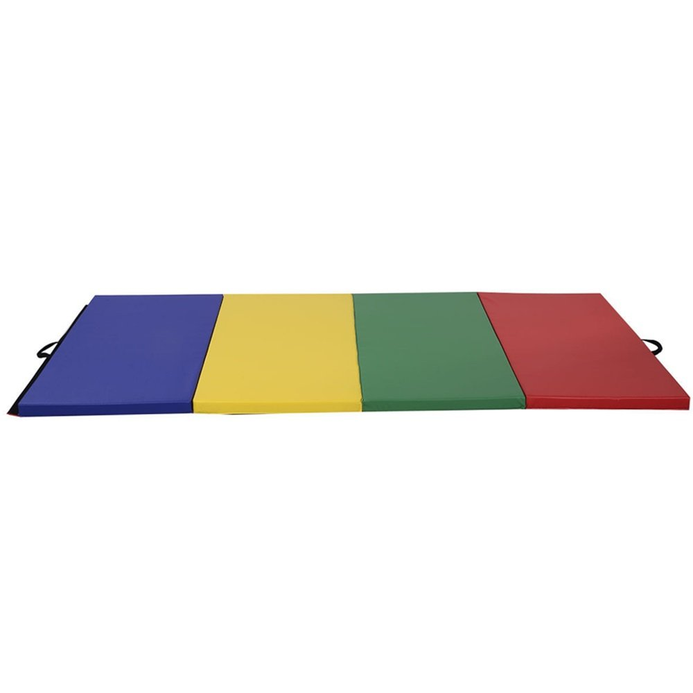 4'x8'x2'' PU Gymnastics Mat Gym Folding Panel Yoga Exercise Tumbling Pad 4 Colors TKT-11