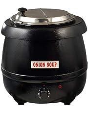 Winco ESW-66 Electric Soup Warmer, 10.5-Quart, Black