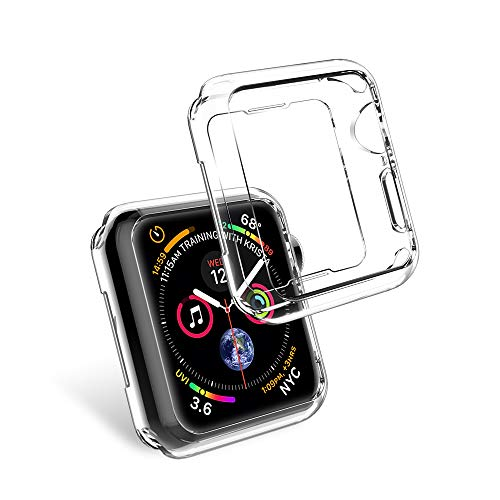 - LK Case for Apple Watch Series 4 40mm, Soft TPU [Ultra Thin] [HD Clear] All-Around Protective Bumper Case Cover for Apple Watch Series 4 40mm