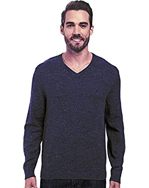 Mens Snowy V-Neck Sweater