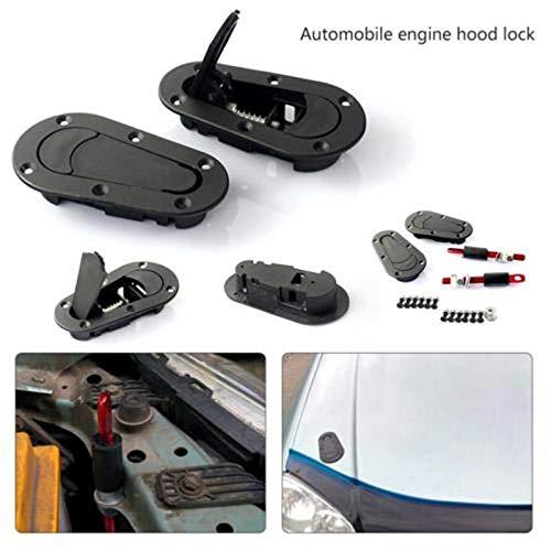 PinShang Universal Racing Car Bonnet Plus Flush Hood Latch Pin Key Without Lock Kit