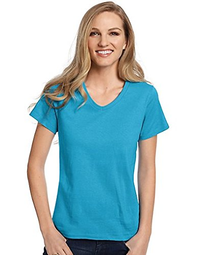 Hanes Womens Relaxed Fit ComfortSoft V-Neck T-Shirt
