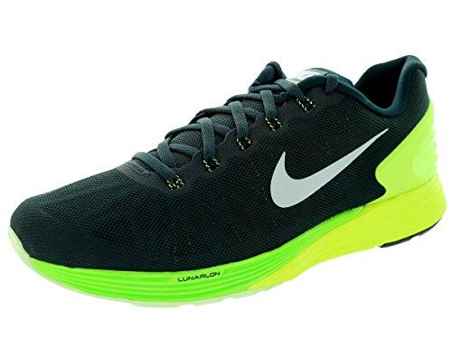 Nike Lunarglide 6, Scarpe Da Corsa Da Uomo Nere (alghe / Bianco-volt-elctrc Grn)