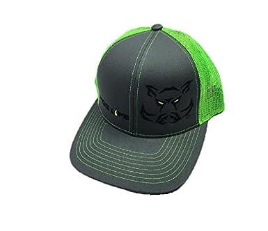 Amazon.com  Hog Life Meshback Hat with Adjustable Snapback (Dark ... 3fb775eec985
