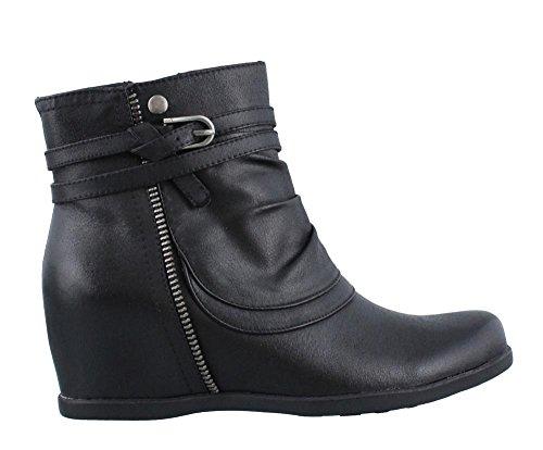 Baretraps Blote Vallen Vrouwen Quaint Gesloten Teen Enkel Mode Laarzen Zwart