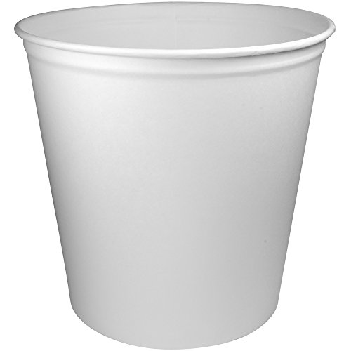 - Solo 10T1-N0198 165 oz White Paper Bucket (Case of 100)