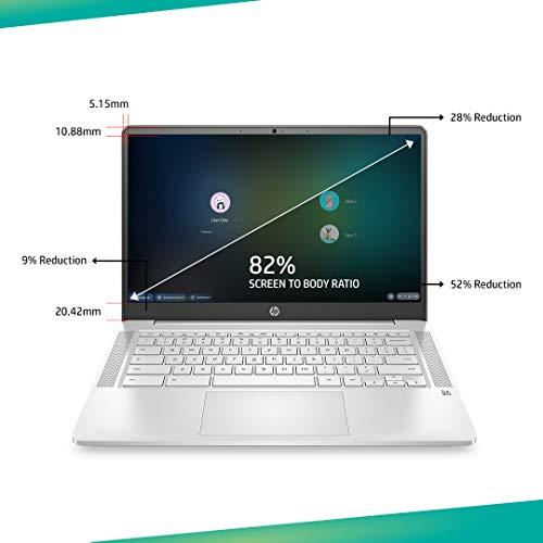 HP Chromebook 14a-na0003TU 14-inch Thin & Light Touchscreen Laptop (Intel N4020/4GB/64GB SSD + 256GB Expandable/Chrome OS/1.46 kgs Light), Mineral Silver