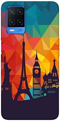 SharpEseller Efil Pattern Designer Multi Coloured Silicone Mobile Back Cover for Oppo A54 5G 2021 July Protects your Phone from scratches and damage. Comfortable and perfect fit for your Phone. Allows easy access to all buttons.