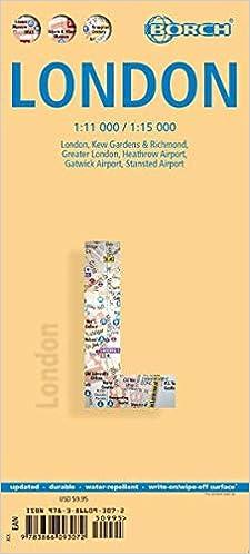 Londres, Plano Callejero Plastificado. Escala 1:11.000/1:15.000. Borch.: Kew Gardens And Richmond/heathrow/gatwick por Vv.aa. epub