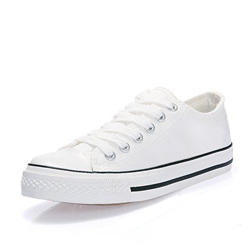 Shoes Black New Gouache Summer 10 Spring White Sneakers White Casual Canvas Women YRqwzR6