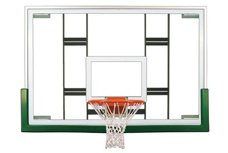 最初チームColossusアップグレードパッケージsteel-glass Gymnasium backboard44 ;リム&パッドアップグレードpackage-スカーレット B01HC0E1BO