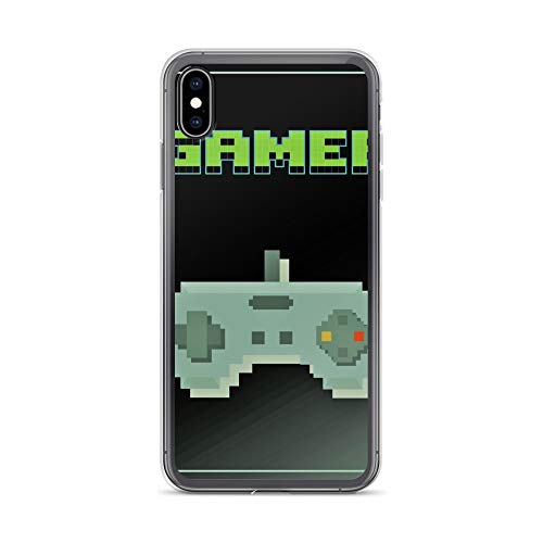 iPhone Xs Max Case Anti-Scratch Gamer Video Game Transparent Cases Cover Green Pixel Gamer No 1 Gaming Computer Crystal Clear]()