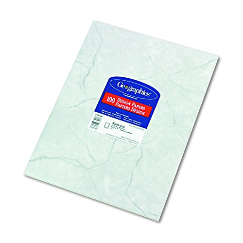 Geographics 39017 Design Suite Paper, 24 lbs., Marble, 8 1/2 x 11, Gray (Pack of 100)