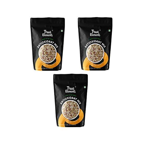 True Elements Antioxidant Seeds Mix - Roasted Sunflower, Pumpkin, Flax, Watermelon, Chia with Goji Berries, 375g (125 gm Pack of 3)