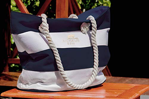 Moskus Gear Beach Bag Tote Carry on Canvas (L)