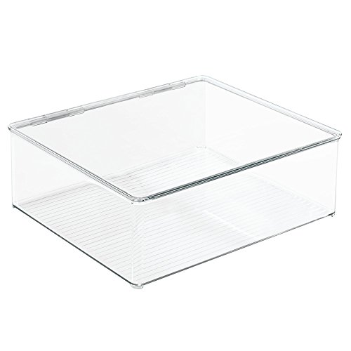 InterDesign Closet Binz Stackable Box for Blouse with Lid, Clear