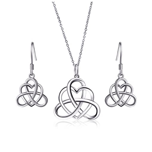 348714765131 925 Sterling Silver Good Luck Irish Heart with Triangle Celtic Knot ...