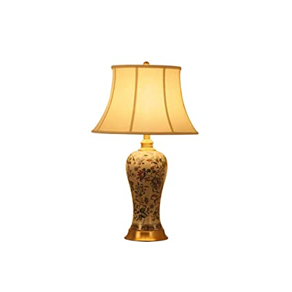 Amazon.com: WCJ Lámpara de mesa de cerámica estilo chino ...