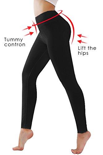DIAMONDKIT Women's Inner Pocket Non See-Through Leggings ... (1037 Black, M)