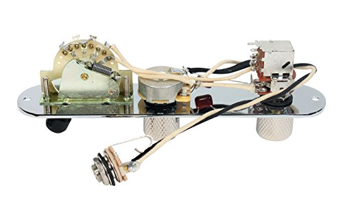 Fender Telecaster Loaded 3-Way Control Plate w/Push-Pull Series-Parallel, Chrome by Custom Shop (Image #1)