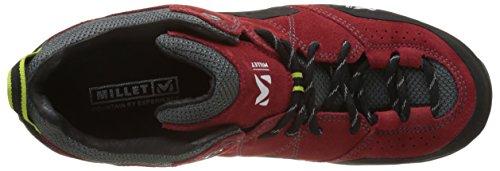 MILLET Rockway, Scarpe da Arrampicata Uomo Rosso (Red/Acid Green 7161)