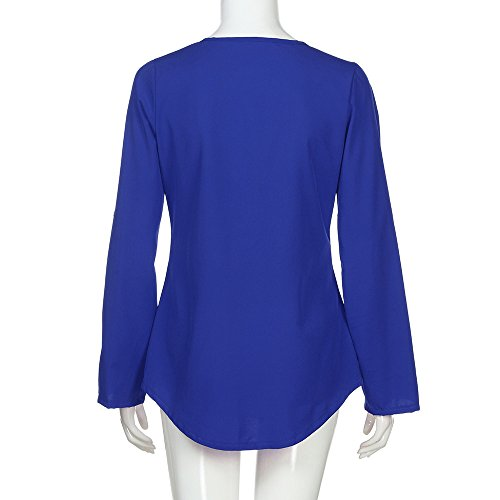 Veste T Longues Chemise Mousseline B Femme Blouse Hauts Mode Kangrunmy Tops Shirt Col V Sweat Tunique Manches Sweatshirt Chic Fluide Manteau Chemisier Casual qawXwFZS6