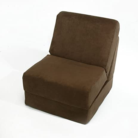 Great Fun Furnishings Teen Chair, Brown Micro Suede