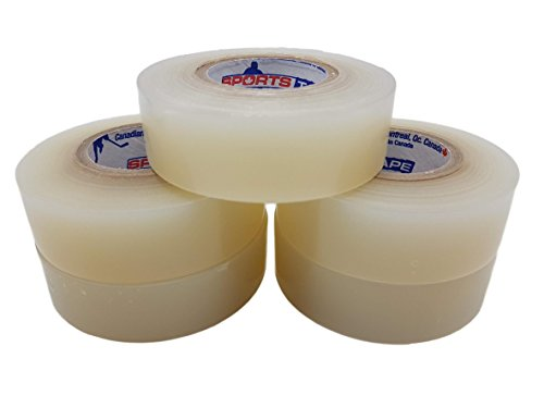 Clear Hockey Tape. Water resistant, rips easily, 5 Pack. SportsTape – Made in North America.