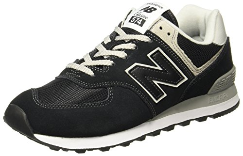 New Balance Women's Iconic 574 Sneaker, Black, 8 B Us
