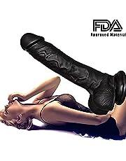 FOSHA 7 inch Lifelike Silicone Dídl&os Hand-Free for Women Beginners