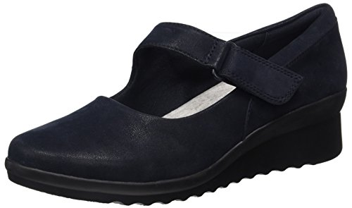 Clarks Damen Caddell Cuneo Ballerine Blau (black)