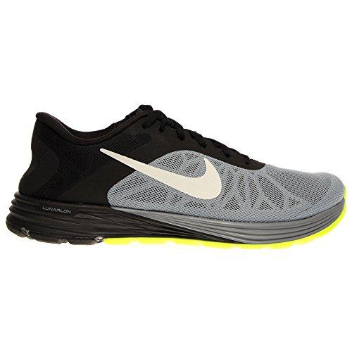 Nike Men's Lunarlaunch Magnet Grey/White/Black Running Shoe 12 Men US