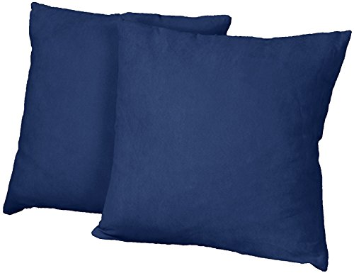 Square Throw Pillow Size : Cheap Better Fit Decorative Throw Pillows Set of 2, 18-inch Square-size, Microfiber Suede Dark ...