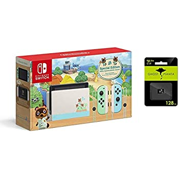 Nintendo Swap with Pastel Inexperienced and Blue Pleasure-Con Console – Animal Crossing: New Horizons Version – Household Christmas Vacation – 6.2″ Touchscreen LCD Show, 128GB MicroSD Card