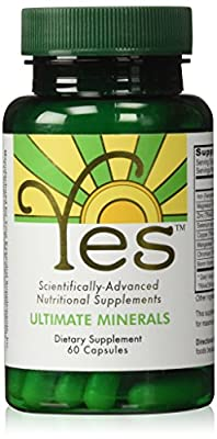 YES Ultimate Minerals Supplement 60ct | Ideal for The Peskin Protocol | for Mineral Deficiency Support: Iron, Magnesium, Zinc, Selenium, Copper, Manganese, Chromium, Boron