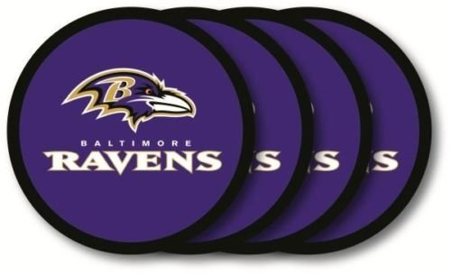 Baltimore Ravens Vinyl Coaster Set (4) Brand New in Package by Duckhouse - Packages Autographed