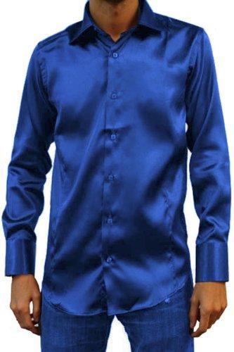 Kebello Blu Camicia Camicia Kebello Raso nqvFqPY