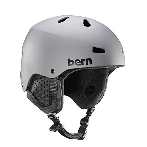 (Bern Macon EPS Helmet (Matte Grey with Black Liner, Large) )
