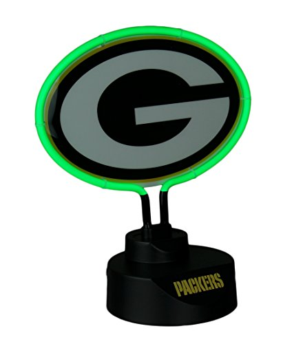 (Green Bay Packers Logo Neon Tabletop Statue Accent Lamp )
