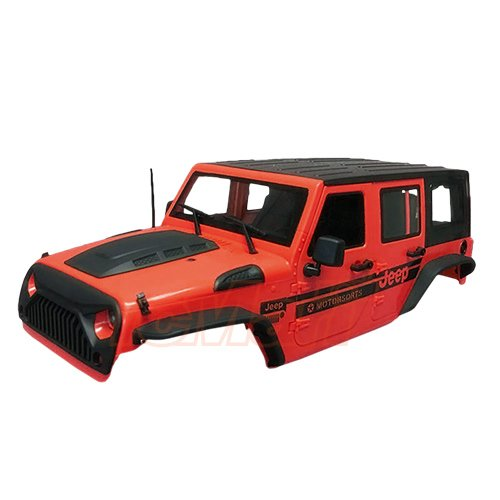 Xtra Speed Jeep Hard Plastic Body Kit 313mm (Parts A) Ver.2 For Axial SCX10 RC4WD TF2 Red #XS-59765AR