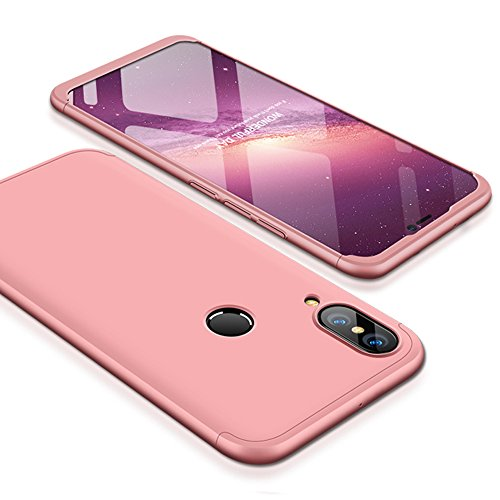 Huawei P20 Lite Case, Huawei Nova 3E Case, Ranyi [Full Body 3 in 1] [Slim & Thin Fit Tightly] [360 Degree Protection] Premium Hybrid Bumper 3 in 1 Hard Case Cover for Huawei P20 Lite (rose gold)