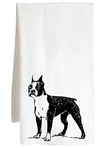 Live Nice Boston Terrier - Dog Frank Cute Canine Decor - Farm Flour Sack Kitchen Tea Towel (Kitchen Towel Terrier)