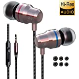 Earbuds Earphones Headphones Ear Buds Wired Stereo in Ear with Microphone Volume Control Best Waterproof Comfortable for Samsung Galaxy Cellphone Android mp3 Players Laptop Computers PC 3.5mm Audio