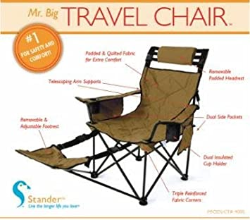 STANDER Mr. Big Travel Chair   2 Colors (FREE Shipping, Las Vegas Gold