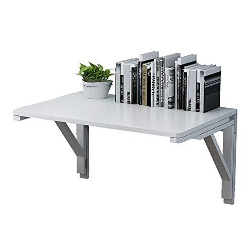 Väggfällbart bord vit väggmonterat bord, Heavy Duty fällbord för små rum, multifunktionell barnstudie datorskrivbord (storlek: 100 x 40 cm)