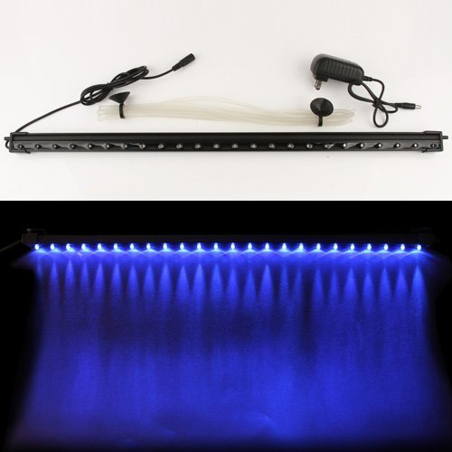 Candance 24inch 24LED Energy Saving LED Fish Tank Aquarium Bar Stick Strip Waterproof Submersible Light Lamp LED Aquarium Light Bar Strip for Aquarium Fish Tank Flood Lights (24inch Blue) (Fish Light 24 For Inch Tank Bar)
