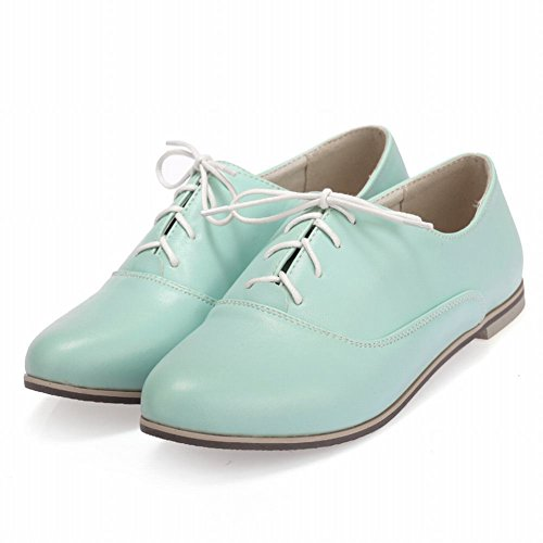 Carol Schoenen Comfort Dames Lace-up Zoete Mode Casual Schattige Flats Oxfords Schoenen Groen