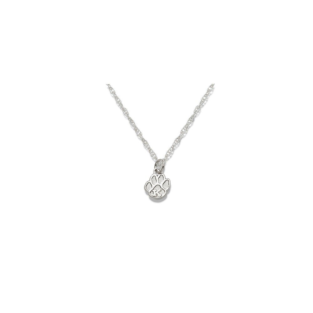 Solid 925 Sterling Silver University of Kentucky PAW with K 3//8 ON Chain 0.4mm