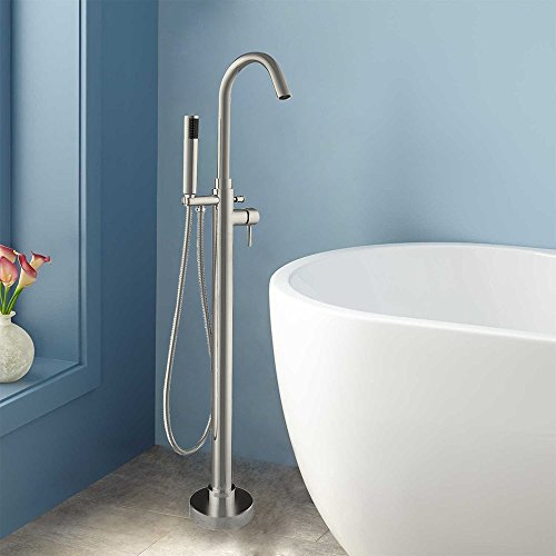 F-0002 C Freestanding Bathtub Faucet, Chrome