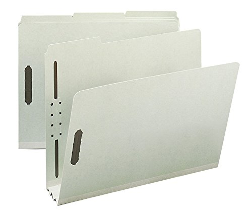 Smead 100% Recycled Pressboard Fastener File Folder, 1/3-Cut Tab, 3